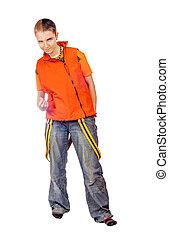 Aggressive teen walking