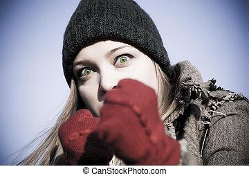 Aggressive Woman Portrait