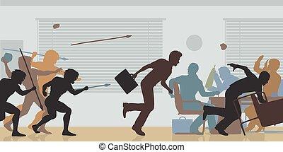 aggressivo, scalata, corporativo