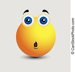 Aghast Smiley Character