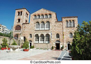 Byzantine orthodox church of Aghios Demetrios in Thessaloniki ,Greece, Unesco heritage