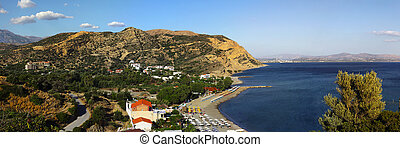 Agia Galini cylindrical projection - A panoramic view from...