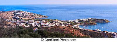Agia Pelagia panorama - Panoramic view of Agia Pelagia in ...