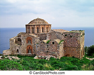 Agia Sophia church, Monemvasia, Greece - Ayia Sophia 13th ...
