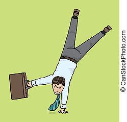 Agile businessman / Business upside down