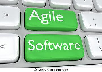 agile, concept, logiciel