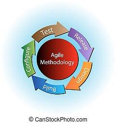 agile, concept, méthodologie