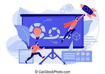 Agile project management concept vector illustration.