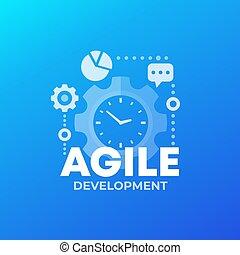 Agile software development process, vector, eps 10 file, ...