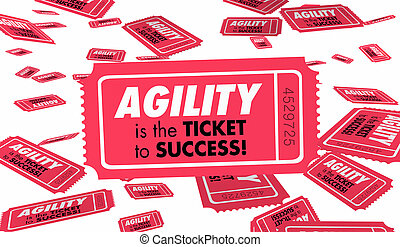 Agility Quick Speed Response Flexibility Ticket 3d Illustration