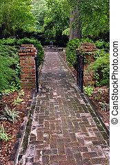 Aging Brick Pathway