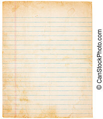 Aging Vintage Lined Paper