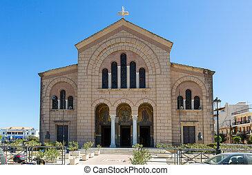 Agios Dionysios Church, Zakynthos City island, Greece.