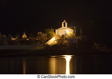 Agios Fokas at night Peloponnese Greece