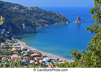 Agios Gordios beach at Corfu island in Greece