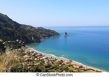 Agios Gordis Corfu Greece - the beach village Agios Gordis ...