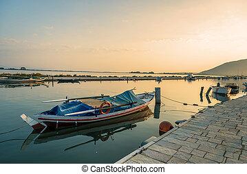 Agios Kirikos village on Ikaria island in Greece.
