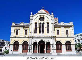 Agios Minas. Greek Orthodox cathedral - Agios minas. Greek ...