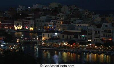Agios Nikolaos city across the bay