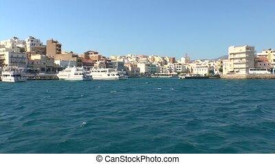 Agios Nikolaos Crete - Touristic boats in harbor Agios...