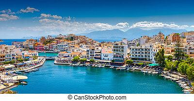 Agios Nikolaos, Crete, Greece. Agios Nikolaos is a ...
