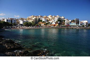 Agios Nikolaos, Crete - The resort village of Agios Nikolaos...