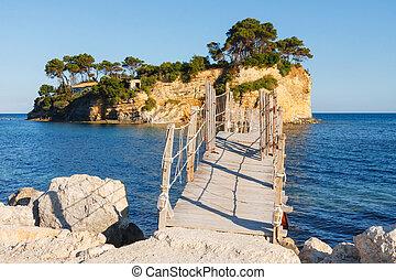 Agios Sostis, small island in Greece, Zakynthos