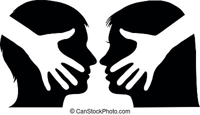 agitação mão, entre, homem mulher