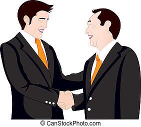 agitação mão, negócio, branco, fundo