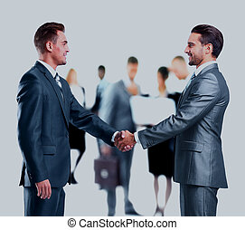 agitação, negócio, hands., pessoas