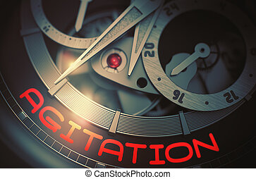Agitation on the Luxury Wristwatch Mechanism. 3D.