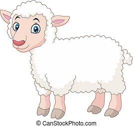 agneau, dessin animé