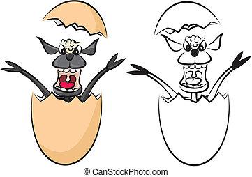 agnello, uovo