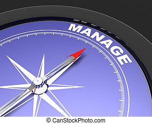 ago, parola, indicare, astratto, amministrare, manage., concetto, bussola