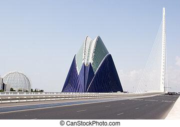 Valencia, Spain - Agora and Bridge L-Assut de L-Or in...