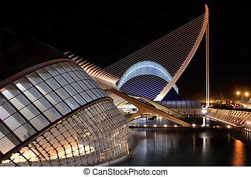 Agora and Hemisferic - VALENCIA, SPAIN - NOVEMBER 3: Night...