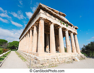 Agora of Athens, Greece - Temple of Hephaestus in Agora of...