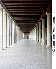 Agora - Perspective of agora with marble columns