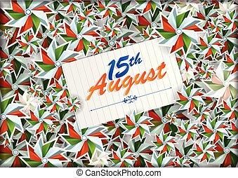 agosto, índia, 1ö, fundo, dia, independência, feliz