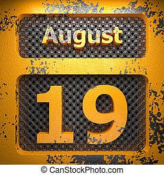 agosto, 19, acciaio, dipinto
