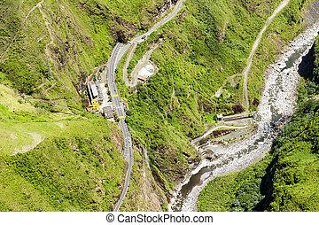 Agoyan Electric Plant Tungurahua Aerial Shot