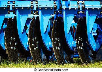 agrícola, harrow, disco, machinery.