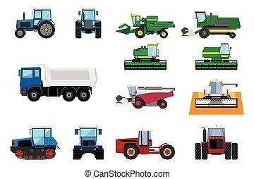 agrícola, jogo, maquinaria