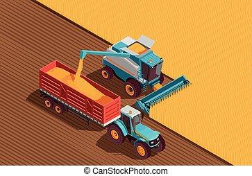 agrícola, máquinas, plano de fondo
