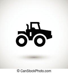agrícola, trator, ícone