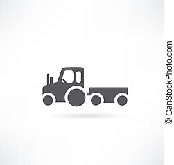 agrícola, vetorial, trator