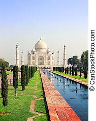 AGRA, インド,  MAHAL, 壮大な墓,  TAJ
