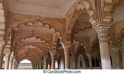 agra, インド, pradesh, 城砦, uttar
