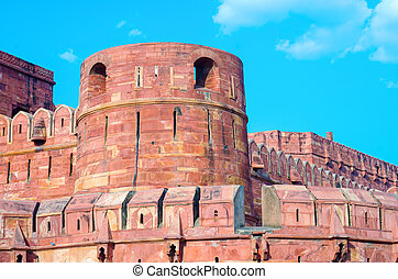 Agra Fort in Uttar Pradesh, India.