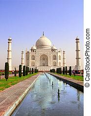 agra, india, mahal, mausoleo, taj